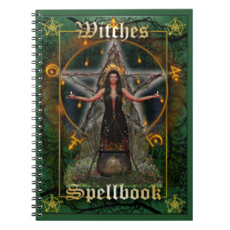 Witches Spellbook - Earth Element (Green Cover) Notebooks