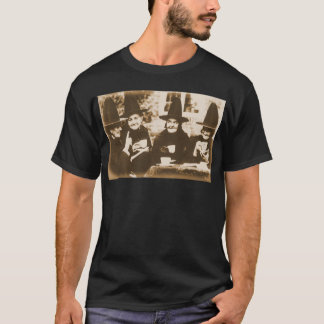 Witches Tea party - sepia T-Shirt