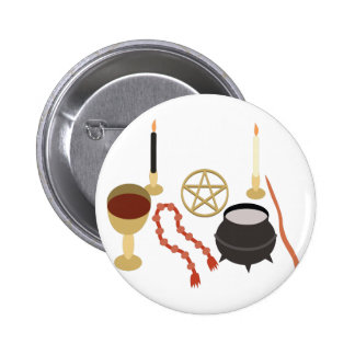 Witches Tools 2 Inch Round Button