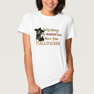Witching My Marine Was Here This Halloween Tees