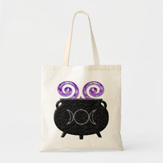 Witch's Brew Pagan Moon Cauldron Tote Bag
