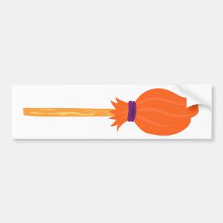 Witch's Broom Bumper Sticker