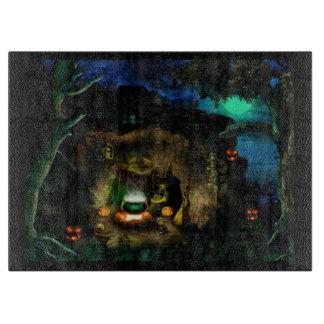 Witch's Den Halloween Cutting Board