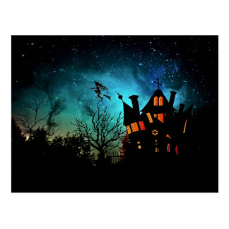 Witch's Haunted House Postcard