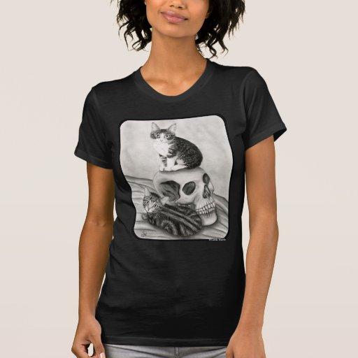 Witchs Kittens Cat Skull Gothic Goth Fantasy Art S T Shirts