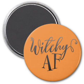 Witchy AF Halloween 3 Inch Round Magnet