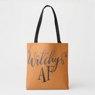 Witchy AF Halloween Tote Bag
