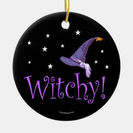 Witchy Ceramic Ornament