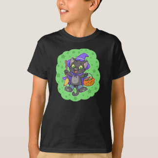 Witchy Halloween cat kid's t-shirt