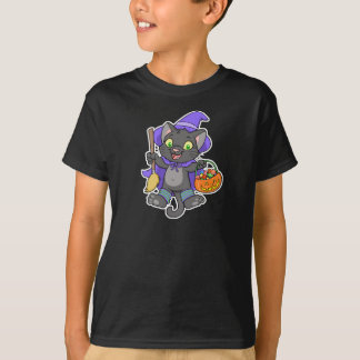 Witchy Halloween cat t-shirt