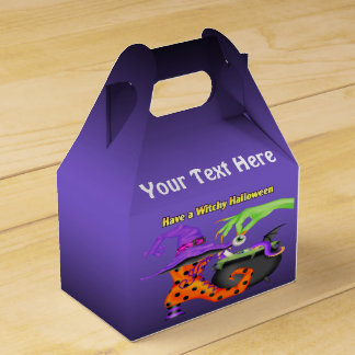 Witchy Halloween Gable Favour Box Favor Boxes