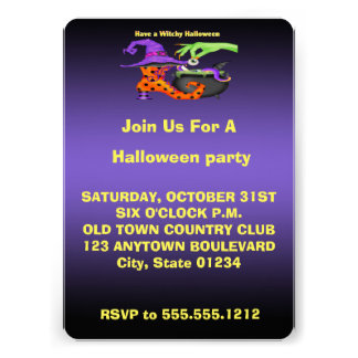 Witchy Halloween Invitations