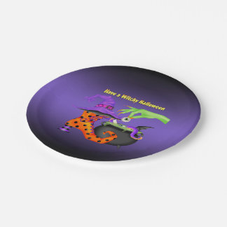 Witchy Halloween Paper Party Plate