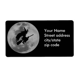 Witchy Moon Shipping Label