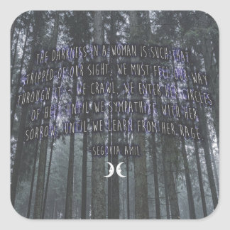 Witchy Quote by Segovia Amil Square Sticker