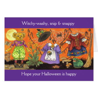 Witchy Washy Halloween Card