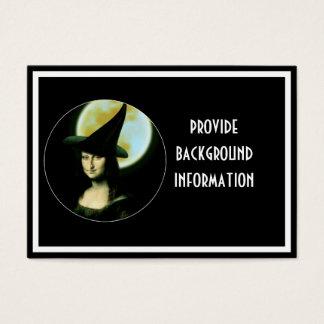 Witchy Woman Mona Lisa Halloween Business Card