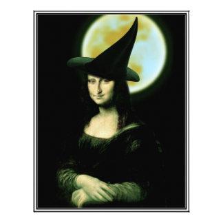 Witchy Woman Mona Lisa Halloween Customized Letterhead