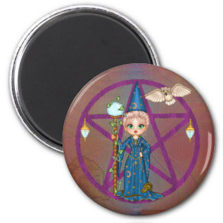 Witchy Woman Penctacle Pixel Art Magnet