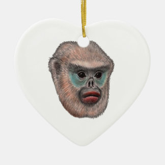 WITH A GLANCE CERAMIC HEART ORNAMENT
