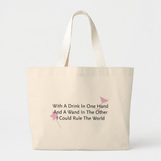 With A Wand In One Hand... Large Tote Bag