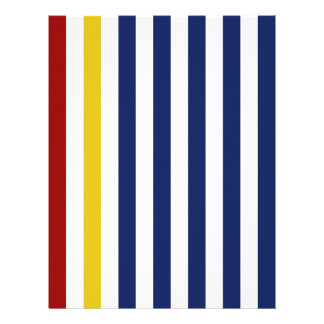 With A Yellow and Red Stripe Personalized Letterhead