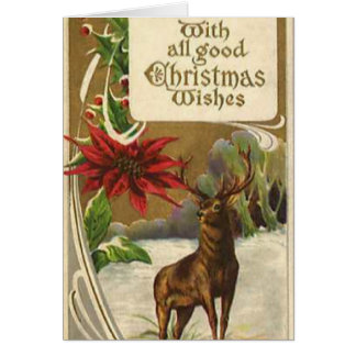 With All Good Wishes Winter Woodland Scene Card