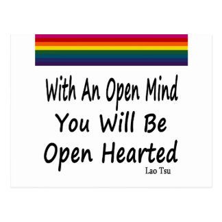 With An Open Mind You Will Be Open Hearted Postcard