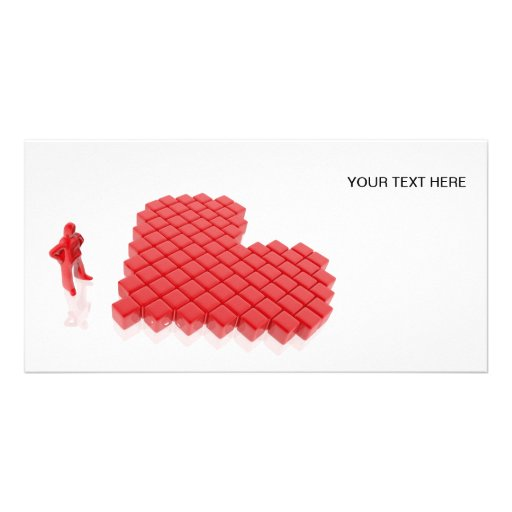 With appears constructing to heart cubes photo card template