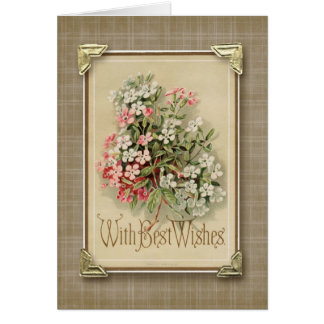 With Best Wishes Vintage Reproduction Card