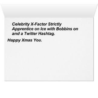 With Bobbins and a Hashtag Christmas Card
