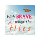 With Brave Wings She Flies Canvas Print