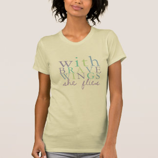 """""""With Brave Wings"""" Women's Tee"""