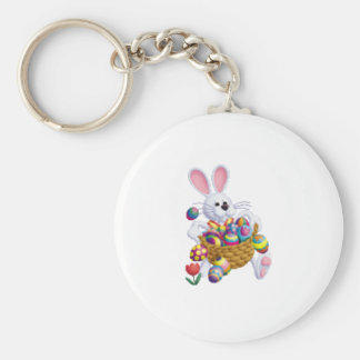 With Bunny With Easter Eggs Key Chains