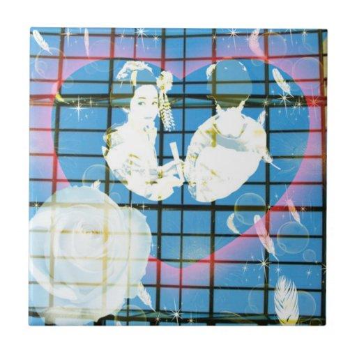 With dance 妓 a so bo 15 ceramic tiles