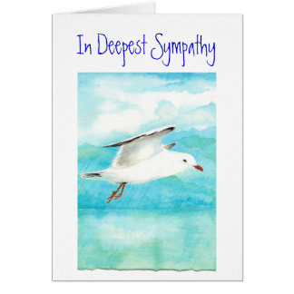 With Deepest Sympathy, Encouragement, Condolances Card