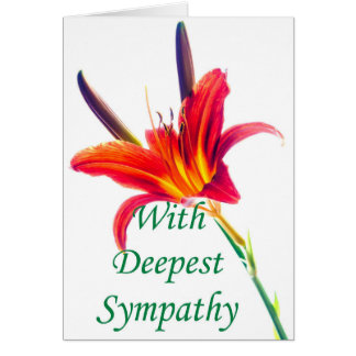 With Deepest Sympathy Lily flower card