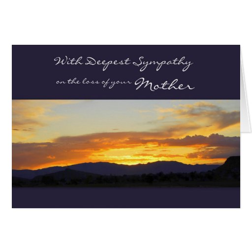 With Deepest Sympathy on the Loss of your Mother Cards