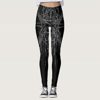 with difficulty dark metal leggings