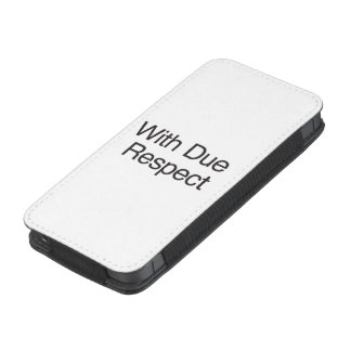 With Due Respect.ai iPhone Pouch