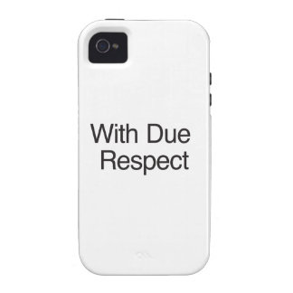 With Due Respect Case-Mate iPhone 4 Cases