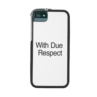 With Due Respect Cover For iPhone 5/5S
