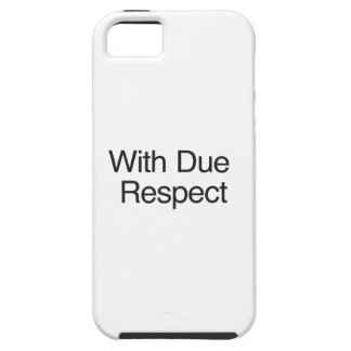 With Due Respect iPhone 5 Cases
