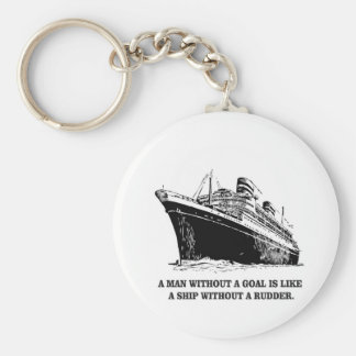 with goal like rudder basic round button keychain