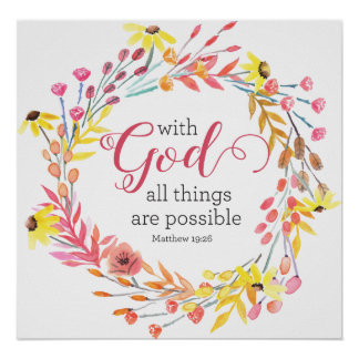 With God All Things are Possible Art Print