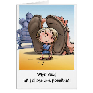 With God all things are possible! Card