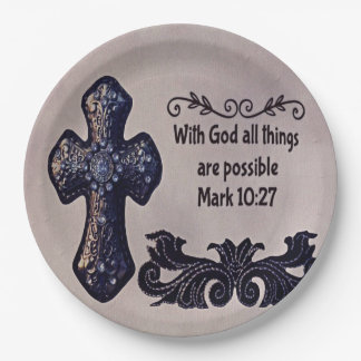 With God All Things are Possible Paper Plate