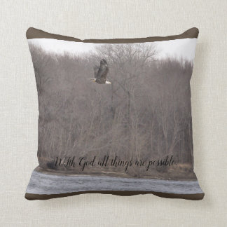 With God all things are possible Pillow