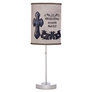 With God All Things are Possible Table Lamp