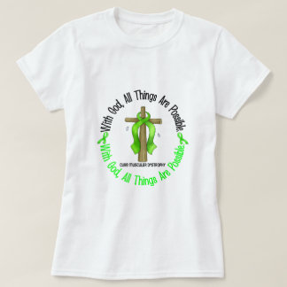 WITH GOD CROSS Muscular Dystrophy TShirts & Gifts